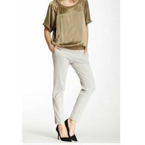 Elizabeth and James 4 Slacks Grey Tan Ponti